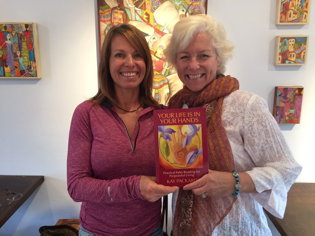 Kay and Wendy holding book Feb 7 2015